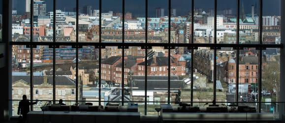 View of Glasgow from the college